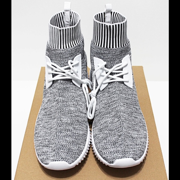 100Zi Other - NIB 100Zi Marled-Gray 10.5 Sock-Knit High Sneakers